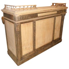 19th Century French Oak and Poplar Wood Counter, 1890s