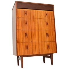 1960s Vintage Walnut and Zebrano Chest of Drawers by EON