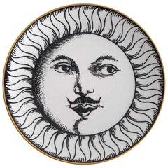 Vintage Piero Fornasetti Soli E Lune Pattern Plate