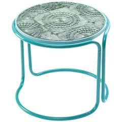 Side Table Caldas Tubular with Portuguese Tiles