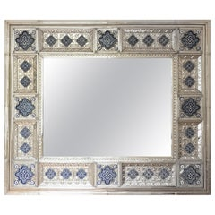 Mirror Frame, German Silver and Ceramic