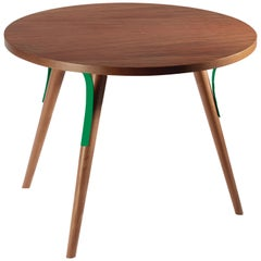 Side Table Way in Wood and Lacquered Metal