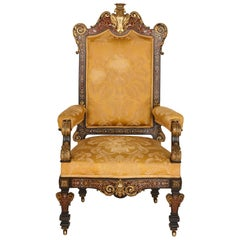 Boulle Inlaid Armchair with Gilt Bronze Mounts