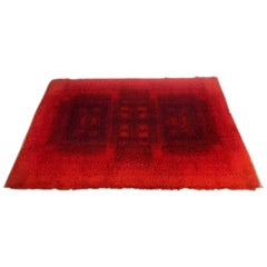 Modern Abstract High Pile Rug by Desso, Netherlands, 1970s
