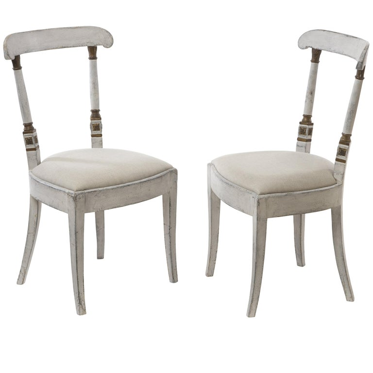 Pair of Exceptional Directoire Style Chairs 1