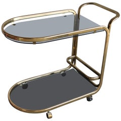 1960s Two-Tier Brass French Bar Cart