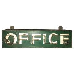 "Vintage Art Deco Neon ""OFFICE"" Sign"