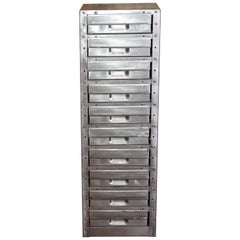 Stripped Metal 10-Drawer Engineers Workshop Cabinet Storage Cabinet Haberdashery