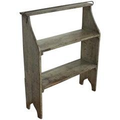 Antique French Kitchen Pot Rack Shelf
