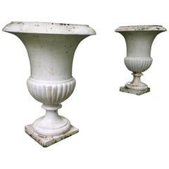 Vases 'Pair' Urns in Iron in 1800s from France