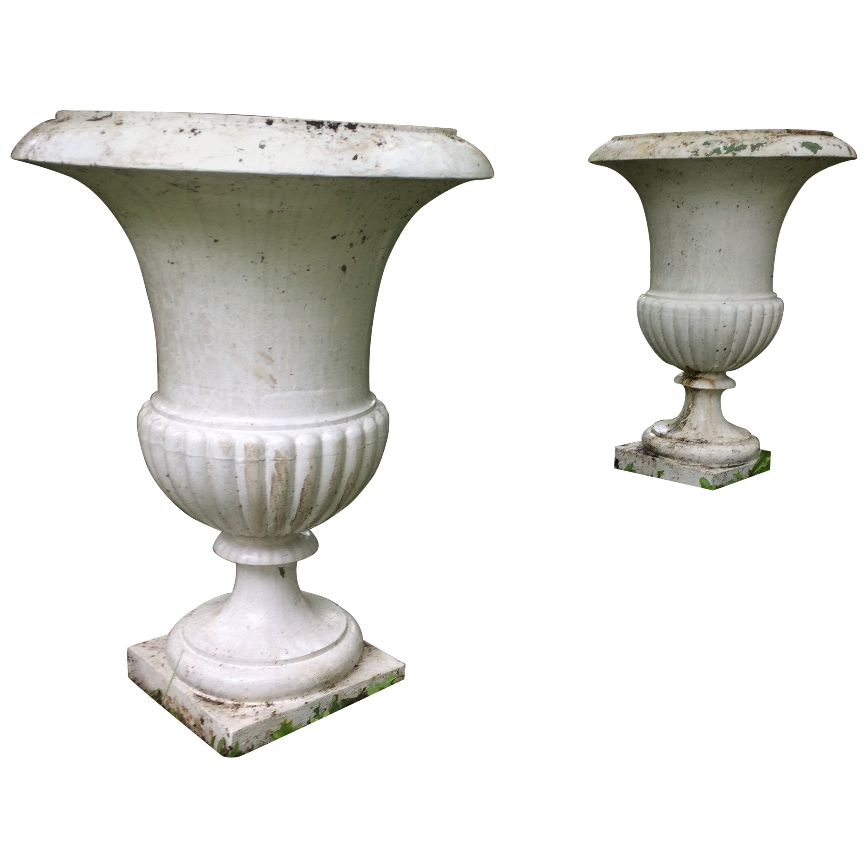 fda41e2a7eb8 Vases 'Pair' Urns in Iron in 1800s from France For Sale at 1stdibs