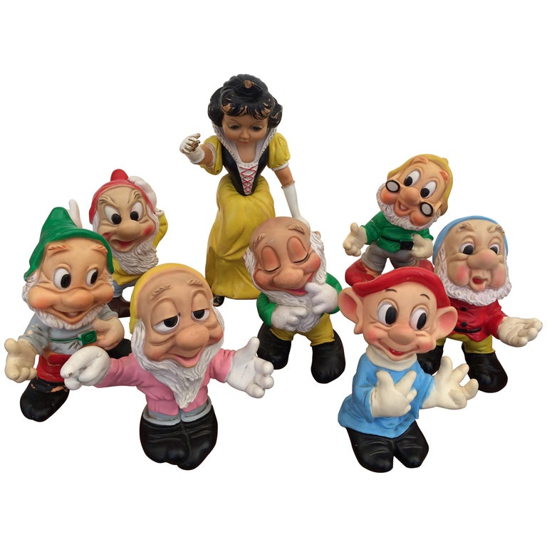 American Midcentury Collectors Snow White and the Seven Dwarfs Whistling  Toys