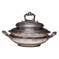 French Sterling Silver Louis XV Style Soup or Vegetable Tureen