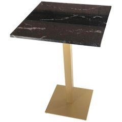 New Bistro High Table in Gilded Wrought Iron with Black Marble Top