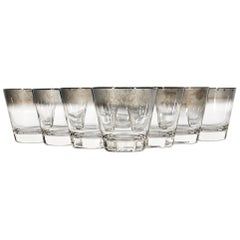 1960s Silver-Fade Old Fashioned Tumblers, Set of 8