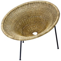 Wicker Easy Chair by Sven Staaf, Staaf & Almgren, Sweden, 1950s