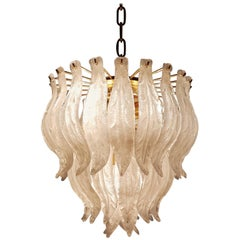 Murano Glass Leaf Chandelier, 1970s