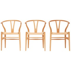 Hans J. Wegner CH24 Wishbone Chair, Set of 6