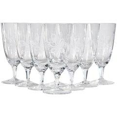 1960s Rosenthal Parisian Spring Glass Wine Stems, Set of 8