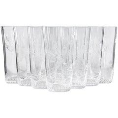 1960s Rosenthal Parisian Spring Glass Tumblers, Set of 11