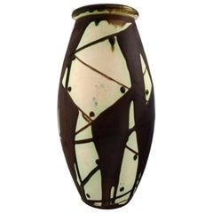 Kähler, Denmark, Glazed Stoneware Vase in Modern Design, 1930s-1940s