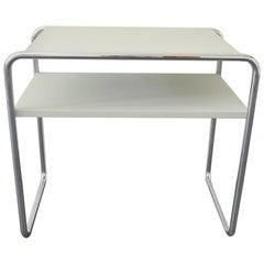 B9d/1 Nesting Table Designed by Marcel Breuer for Thonet, Light Grey