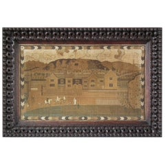 Antique Country Mansion House Embroidery