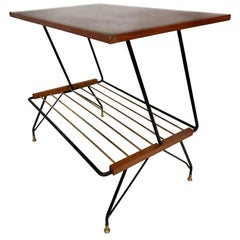 Mobili Pizzetti Roma, Coffee Table with Magazine Rack, 1950s, Italy