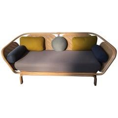 French Design Rattan and Wicker Sofa