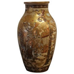 19th Century Gold Satsuma Vase