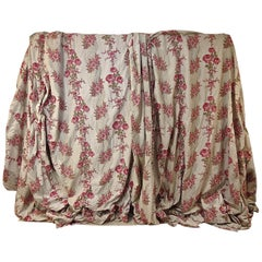 Pair of Roses and Columns Cotton Curtains French, Late 19th Century