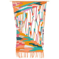 Jaws II Wool and Cotton Wall Hanging by Alicia Scardetta