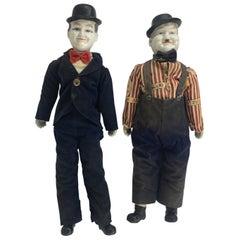 Vintage Porcelain Laurel & Hardy Dolls