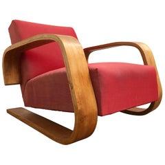 Early Production Armchair 400 'TANK' Chair Alvar Aalto, Artek Sweden 1946-1956