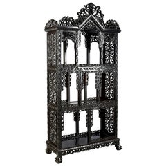 Large 19th Century Chinese Hardwood Open Shelves