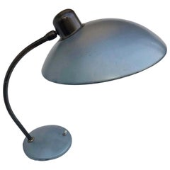 1930s Bauhaus Desk Lamp by Christian Dell with Shade in Rare Blue Metallic