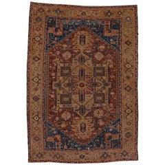 Unusual Heriz/Karaje Carpet, circa 1920s