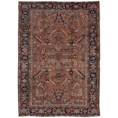 Coral Field Antique Heriz Carpet