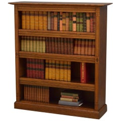 Arts & Crafts Oak Open Bookcase