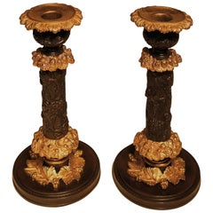 Early 19th Century Bronze and Ormolu Candlesticks