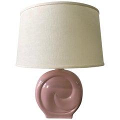 Pierre Cardin Pink Porcelain Ceramic Table Lamp