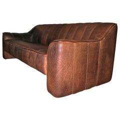 De Sede DS 44 3-Seat Sofa in Buffalo Leather, 1970s