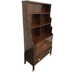 Vintage Cascade Wood Dark Finish Cabinet Hutch
