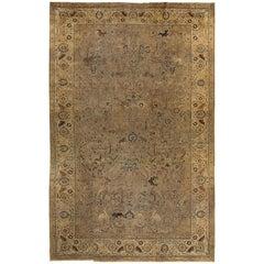 Antique Persian Pictorial Tabriz Rug, circa 1890