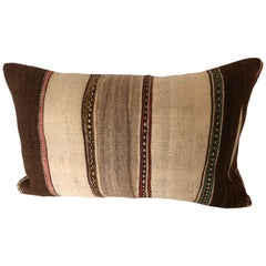 Custom Pillows Cut from a Vintage Moroccan Wool Ourika Rug, Atlas Mountains