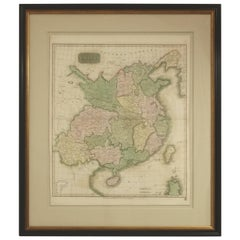 Framed Early 19th Century Drawn and Engraved Map of China