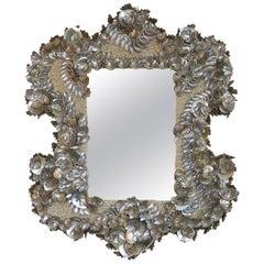 Palm Beach Chic Abalone Shell Encrusted Mirror