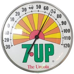 Peter Max 7UP Advertising Thermometer, 1970s