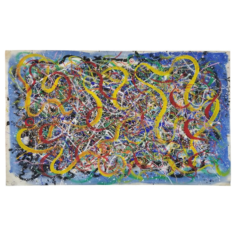 Hendrik Grise Abstract Expressionist Pattern Painting For Sale