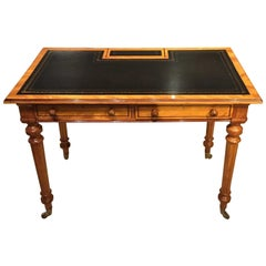 Gillows Satinwood and Purple Heart Victorian Period Writing Table